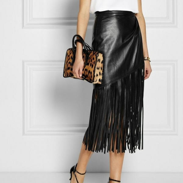 53d152a55966eTamara_Mellon_Black_Fringed_Wrap-effect_Leather_Skirt
