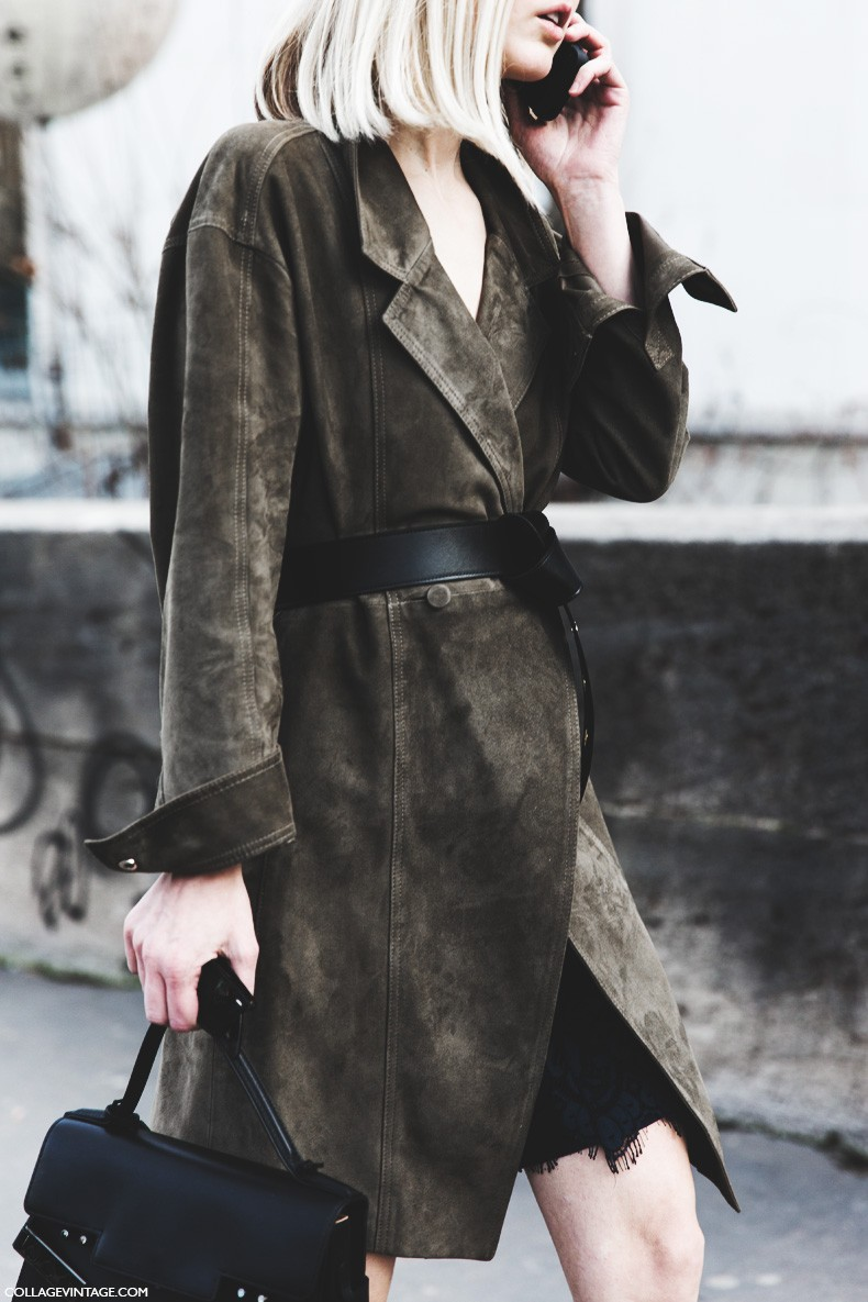 Paris_Fashion_Week-Fall_Winter_2015-Street_Style-PFW-Belted_Suede_Coat-1-790x1185