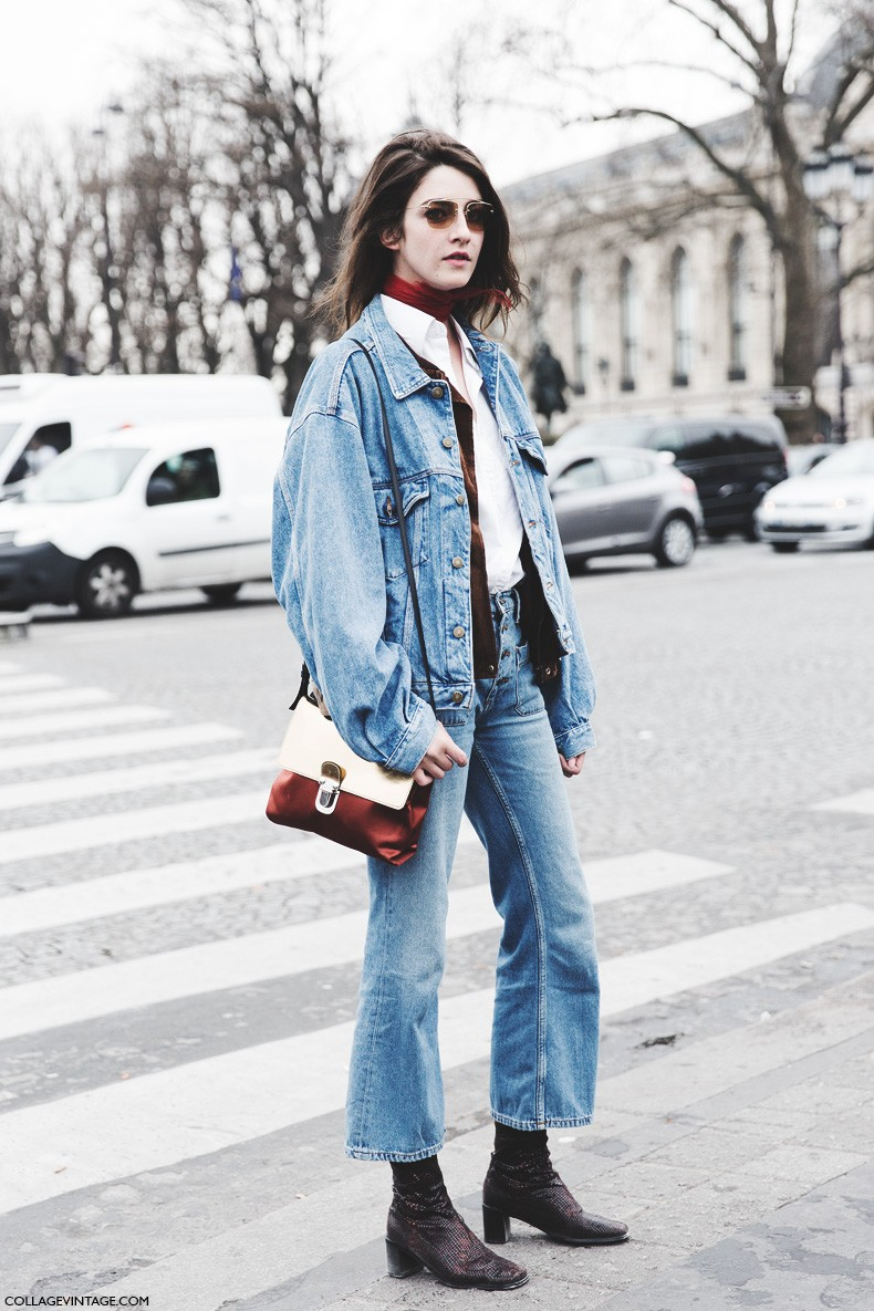 Paris_Fashion_Week-Fall_Winter_2015-Street_Style-PFW-Double_Denim-Outfit-Levis_Vintage-Model-1-790x1185