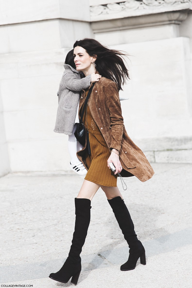 Paris_Fashion_Week-Fall_Winter_2015-Street_Style-PFW-Over_The_knee_Boots-Suede_Coat--790x1185