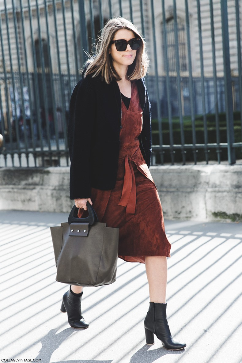 Paris_Fashion_Week-Fall_Winter_2015-Street_Style-PFW-Suede_Dress-1-790x1185