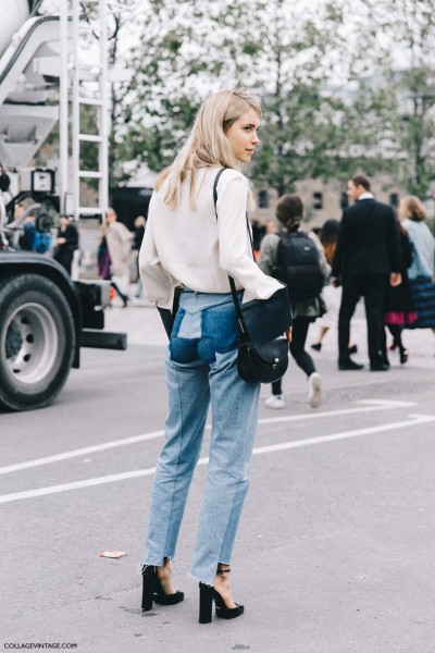 London_Fashion_Week-Spring_Summer_16-LFW-Street_Style-Collage_Vintage-Pernille_Tesibaek-JW_Anderson_Blouse-Vetements_Jeans-Gucci_Shoes-3-790x1185