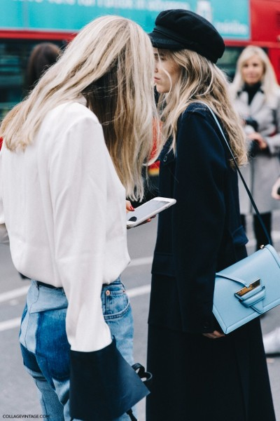 London_Fashion_Week-Spring_Summer_16-LFW-Street_Style-Collage_Vintage-Pernille_Tesibaek-JW_Anderson_Blouse-Vetements_Jeans-Gucci_Shoes-Loewe_Bag--790x1185